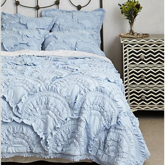 Anthropologie Other - Anthropologie Sky Blue Rivulets Queen Bedding Ste